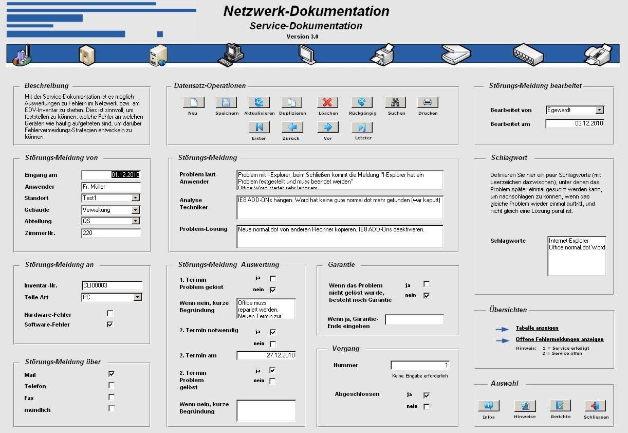 PCT-Solutions | Netzwerk-Dokumentation